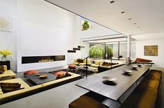I've had a dream of a sunken living space for years.  This is very nearly a dream house for me.
