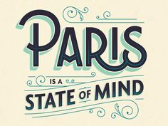 Paris by Alex Roka. Could I love Paris any more than I do? I think not! Retro Typography, Typography Alphabet, Typography Poster Design, Typography Quotes, Lettering Design, Japanese Typography, Number Typography, Creative Typography Design, Inspiration Typographie