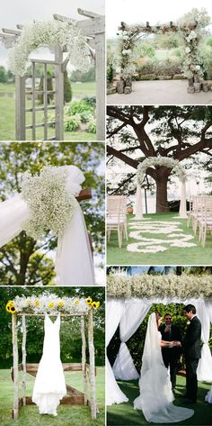baby's breath wedding altar ideas