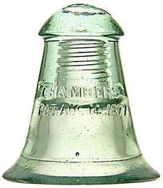 CD 317.5 CHAMBERS, Icy Green. Bidding starts soon at www.billandjillinsulators.com