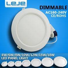 Lights & Lighting 8pcs Led Downlight Lamp Ceiling Spot Light 3w 5w 7w 9w 12w 15w 18w Smd Ac220v Outdoor Recessed Downlight Slim Round Panel Lights Street Price