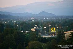 Eugene, Oregon, from Skinner's Butte  http://www.dancornfordphotography.com/eugene-oregon/  #eugene #oregon #autzen