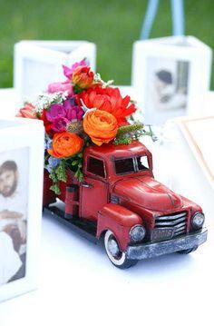 vintage truck centerpiece.
