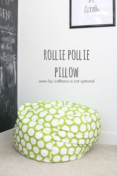 rollie pollie pillow    pattern by MADE    sewn by craftiness is not optional