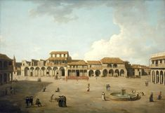 View of the plaza of Havana under British occupation. (Painting by Dominic Serres)