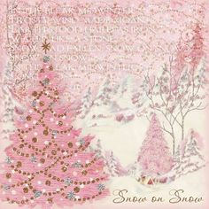 Pretty pink Christmas - love the soft pastels Vintage Pink Christmas, Shabby Chic Christmas, Vintage Holiday, Victorian Christmas, Noel Christmas, Christmas Crafts, Christmas Decorations, Christmas Ornaments, Christmas Snacks