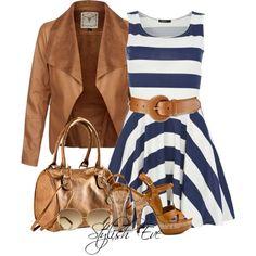Tengo una seria atraccion por la ropa rayada blanca y azul!