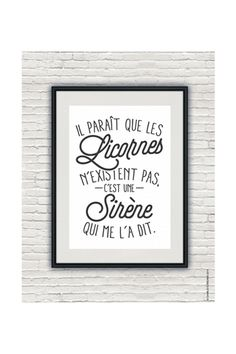 Discover recipes, home ideas, style inspiration and other ideas to try. Unicorn Poster, Quote Citation, French Quotes, Visual Statements, Deco, Small Space Interior Design, Words Quotes, Sentences, Slogan