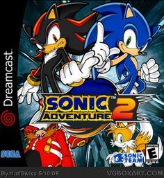 Sonic Adventure 2 Dreamcast Box Art Cover by HalfSwiss Sonic Videos, Playstation, Sonic Adventure 2, Pc Engine, Nintendo, Video Game Development, Sega Dreamcast, Love Games, Film Music Books
