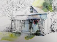 """At the End of the Block"" - Original Fine Art for Sale - © Paula Ensign"