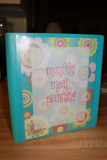 the OCD mama: Meal Planning: Binders Make Everything Better