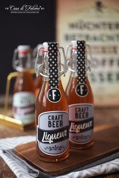 Bierlikör Rezept I Craft Beer I Flaschenetiketten I Casa di Falcone