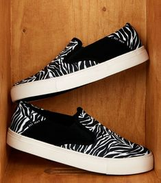 Shop Black Zebra Print Slip On Canvas Trainers. Discover the latest trends at New Look. Low Key, Zebra Print, New Look, Trainers, Latest Trends, Vans, Slip On, Footwear, Heels