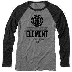Element Compass Raglan - Men's - Skate - Clothing - Onyx - xl
