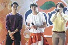 140712 Winner and Fanta, Song Minho, Kang Seung Yoon, Nam Taehyun #winner #taehyun #kpop #mino #seungyoon #YG #maknae #leader