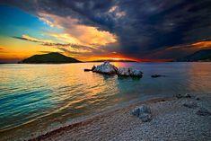 """Northern Sporades Sunset"" by Hercules Milas | Redbubble Hercules, Travel Mug, Greece, Island, Sunrises, Beach, Paradise, Outdoor, Greece Country"