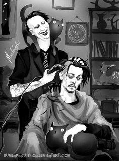 Marilyn Manson & Johnny Depp #adicciones