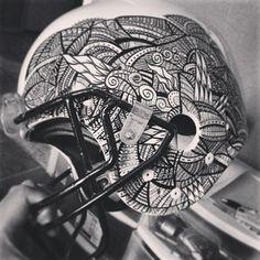 Instagram photo by andrewturnerink - #ink #illustration #tbt #design #drawing #football #nfl #mandala #henna #imagination #blackandwhite #tattoo #sketch #sports #sharpie #art Black And White Football, Sharpie Art, Henna, Imagination, Nfl, Mandala, Sketch, Tattoo, Drawings
