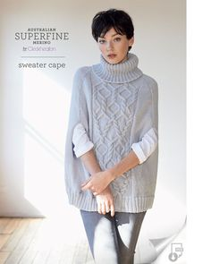 Sweater Cape Pattern - Cleckheaton Superfine