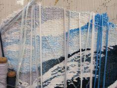 Tapestries in progress at the Australian Tapestry Workshop via allthemountains blogspot & i'mrevolting.net