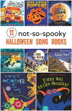 11 not-so-spooky Halloween Song Books--great rhyming books and songs for kids
