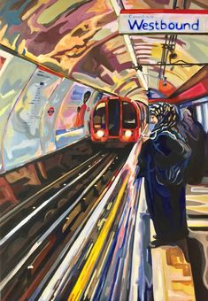 Original Popular culture Painting by Jenifer Dapper London Underground, Underground Arts, City Painting, London Painting, Painting Art, Painting Videos, Arte Steampunk, A Level Art Sketchbook, Art Alevel