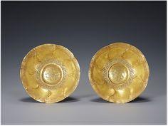 Asian Art & History, korean-art:   Gold Dishes Goryeo dynasty 12th...
