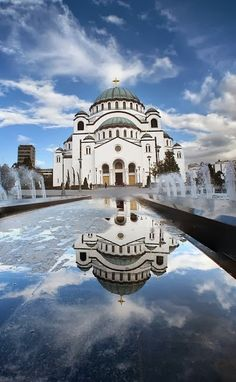The Cathedral of Saint Sava - Belgrade, Serbia Where everyone has to go. Definitely, I insist you to visit The Christian Orthodox Cathedral of Saint Sava. Albania, Montenegro, Beautiful Buildings, Beautiful Places, Beautiful Architecture, Wonderful Places, Simply Beautiful, Places To Travel, Places To See