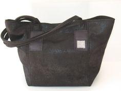 black vegan  tote  shoulder bag  shoulder by LIGONaccessories, $69.00