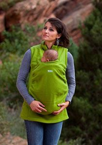 Cool fleece vest that covers baby carrier!
