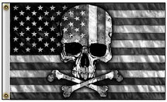 American Flag w/ Skull Crossbones 3 x 5 Flag Pirate Banner garage man cave Skull And Crossbones Flag, Skull Flag, Skull And Bones, Man Cave Items, Color Scale, Skull Artwork, Man Cave Garage, Grey And White, Shopping