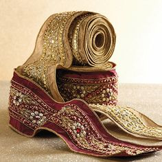 Jeweled Gold Ribbon
