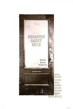Broadway Danny Rose (1984) EEUU. Dir: Woody Allen. Comedia - DVD CINE 328