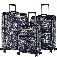 Kensie Luggage 3 PC Expandable Soft Side Spinner Luggage Set - eBags.com