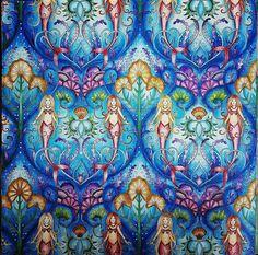 @Regrann from @claudulienka - #lostocean #johannabasford #coloringbook… Johanna Basford Books, Johanna Basford Coloring Book, Colouring Pages, Coloring Books, Magical Jungle Johanna Basford, Secret Garden Coloring Book, Caran D'ache, Ocean Colors, Colours