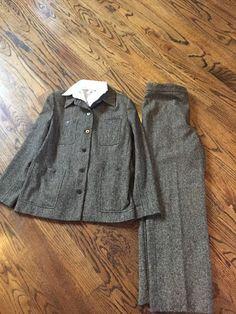 ISDA Co Women's Multicolored Pantsuit Wool Blend Size 4 | eBay