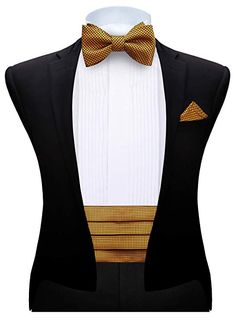 Silk handmade cummerbund set comes with matching self bowtie and handkerchief. Product: Men's Cummerbund Set Gender: Male Cummerbund Size: Total length: Width: Size: Length: Width: US Size_Type: Regular Age_Group: Adult Color: Golden Indian Men Fashion, Mens Fashion, Formal Suits For Women, Stylish Mens Outfits, Male Outfits, Grey Suit Men, Wedding Suits, Gold Wedding, Wedding Dress