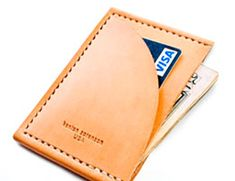 slim front-pocket wallet from Kenton Sorenson USA - would be nice to not have to sit on a brick all day long