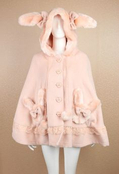 Cosplay Lolita Bunny Ears Cute Cape/Coat ( Color:Pink/ Brown/Creamy white) #Unbranded #LOLITA