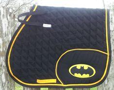 Batman logo saddle pad