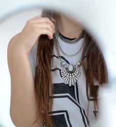 Art Deco Style Statement Necklace 23,90 € #happinessbtq
