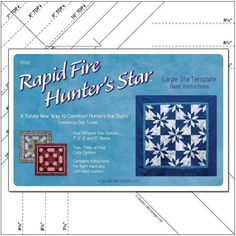 Rapid Fire Hunter's Star: Large Star [][] Deb Tucker, Studio 180 Design. If I've got it right, the size of the star is fixed (finished width of each diamond inches) although the block size changes. I'm not positive. Quilting Rulers, Quilting Tools, Quilting Tutorials, Quilting Projects, Star Quilt Patterns, Star Quilts, Pattern Blocks, Block Patterns, Star Blocks