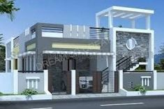Best house front facade ideas ideas The cost reach of the Apartment was amazing. House Front Wall Design, Single Floor House Design, Village House Design, Kerala House Design, Bungalow House Design, Small House Design, Modern House Design, Floor Design, Indian House Plans