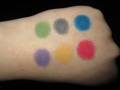 Kiss My Sass Eyeshadow swatches by Eyeconic Makeup (Poison Ivy, Love the Way You Lie, Sailors Kiss, Reign Over Me, Firestarter & Broken Hearted)