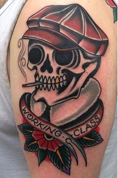 tattoo old school - traditional ink - skull