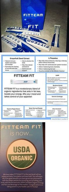 Health And Fitness: Fitteam New Formula Usda Certified Organic Weight Loss Mix- 2 Boxes BUY IT NOW ONLY: $105.0