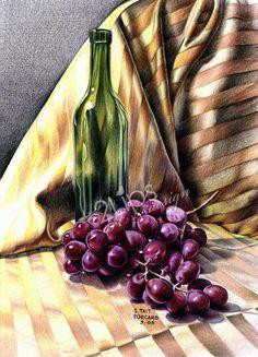 Sue Tate Porcaro Fine+Art+Print+of+an+original COLORED PENCIL DRAWING