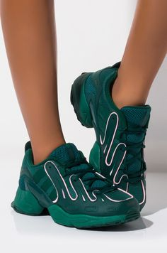 Two tone lace up sneaker by Adidas Adidas Shoes, Sneakers Nike, Sneakers Fashion, Snicker Shoes, Green Sneakers, Friend Outfits, Custom Shoes, Adidas Women, Tennis