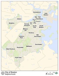 Os 23 bairros de Boston