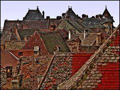 rooftops in Sibiu,Sibiu,Romania